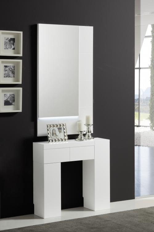 Consola con espejo laca moderna - Conjunto de entrada