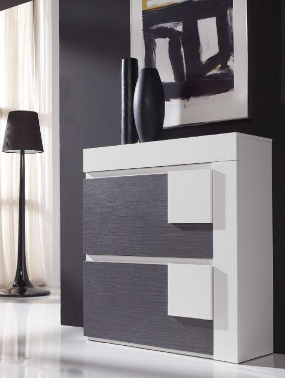 Zapatero moderno solido madera caceres for Muebles diseno moderno