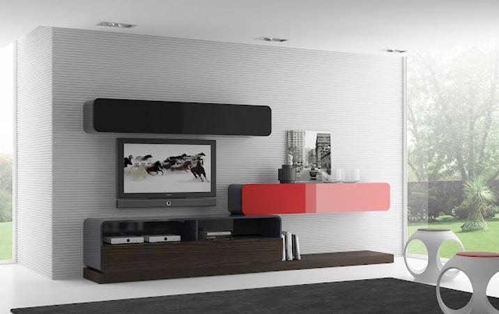 Composición salon modular 4 - Moderna composición de muebles de salón 5 piezas
