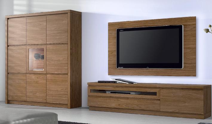 Aparador madera nogal elegante m laga cadiz marbella - Aparador para salon ...