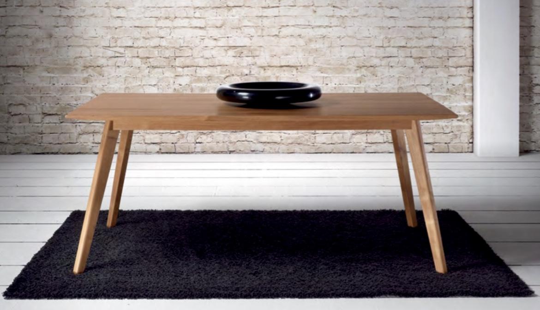 Mia home Mesa de comedor de madera de teca moderna