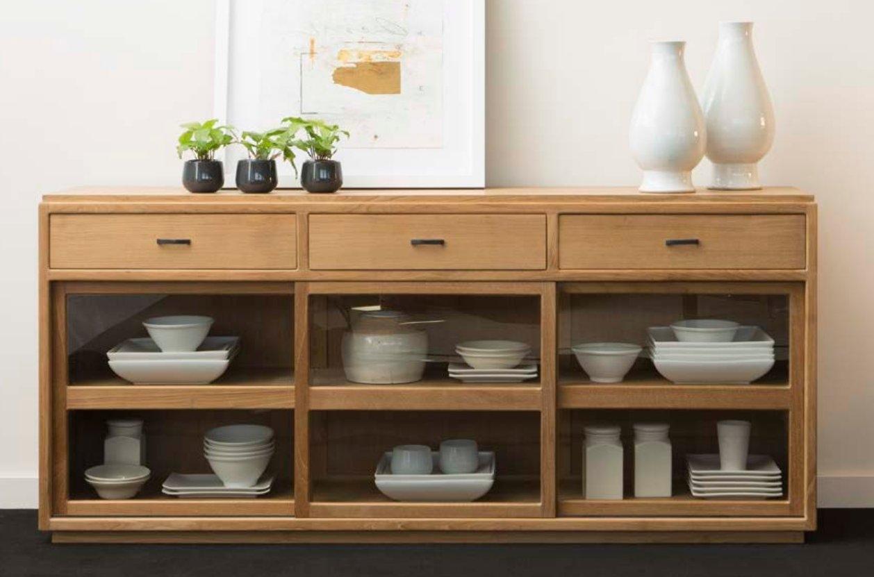 Mia Home tienda de muebles -aparador moderno de madera de teca con ...