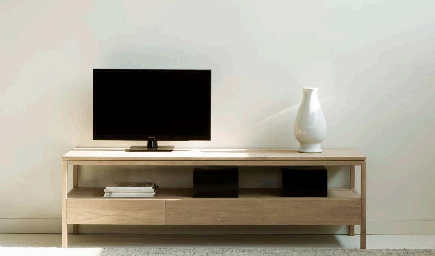 Mia Home Tienda De Muebles Mesa Moderna Para Television De Teca - Mesas-para-tv-modernas