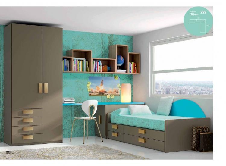 Conjunto cama nido moderna juvenil bonita caceres for Precios cama nido juvenil