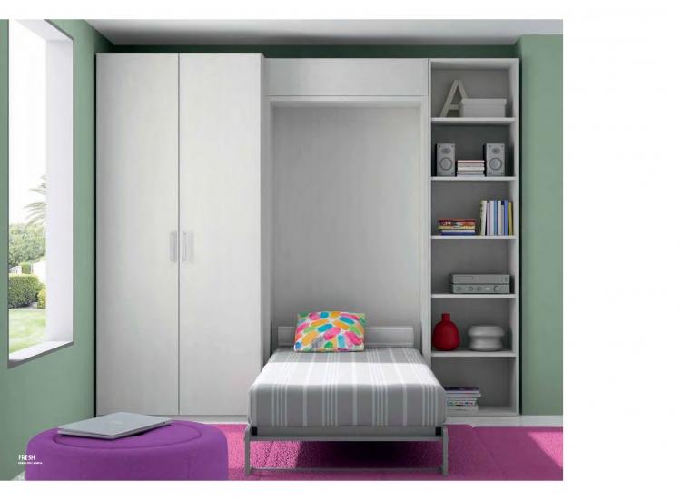 Conjunto cama oculta juvenil malaga marbella madrid cantabria - Cama escondida en mueble ...