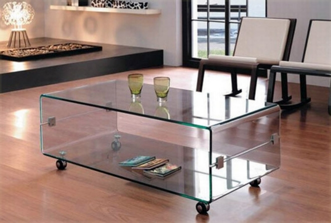 Mesa centro cristal con ruedas barcelona for Mesa cocina con ruedas