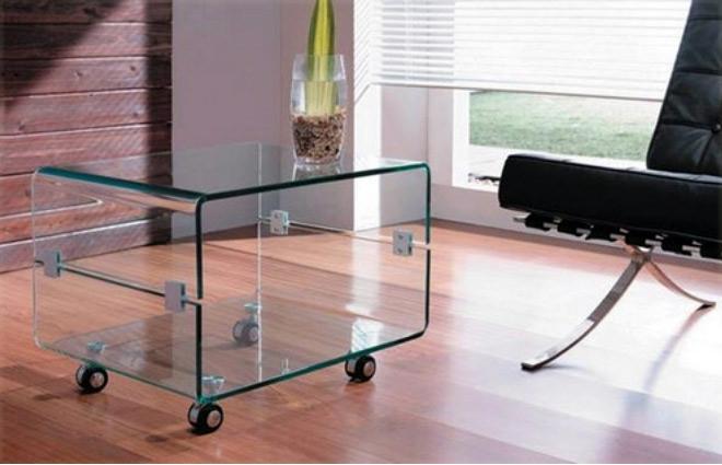 Mesa tv cristal con ruedas barcelona for Mesas de tv con ruedas