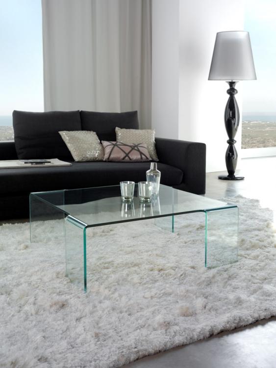 Mesa baja salon moderno cristal malaga - Mesa baja cristal ...