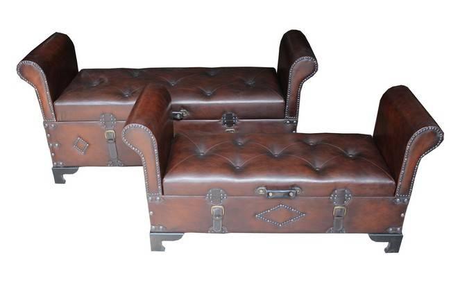 Asiento arcon de dise o antiguo malaga - Baul asiento dormitorio ...