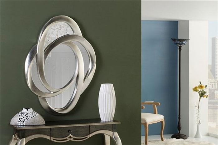 Mia home espejo de poliresina color plata 16230 - Espejos color plata ...