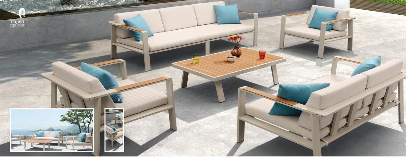 Mia Home Set Para Terraza O Jardín De Aluminio Modelo