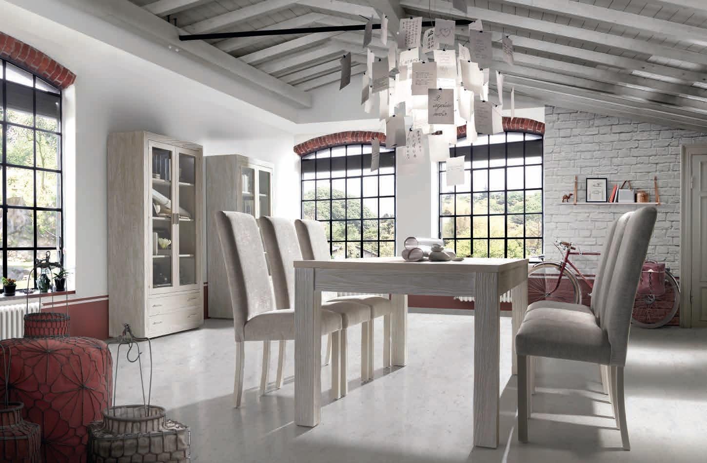 Mesa de comedor madera maciza de robre o fresno