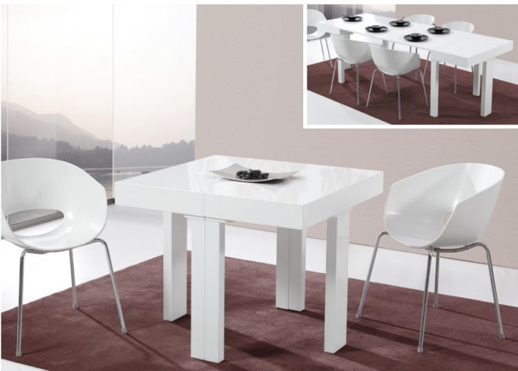 Mesa de comedor extensible madrid for Mesas salon comedor extensibles