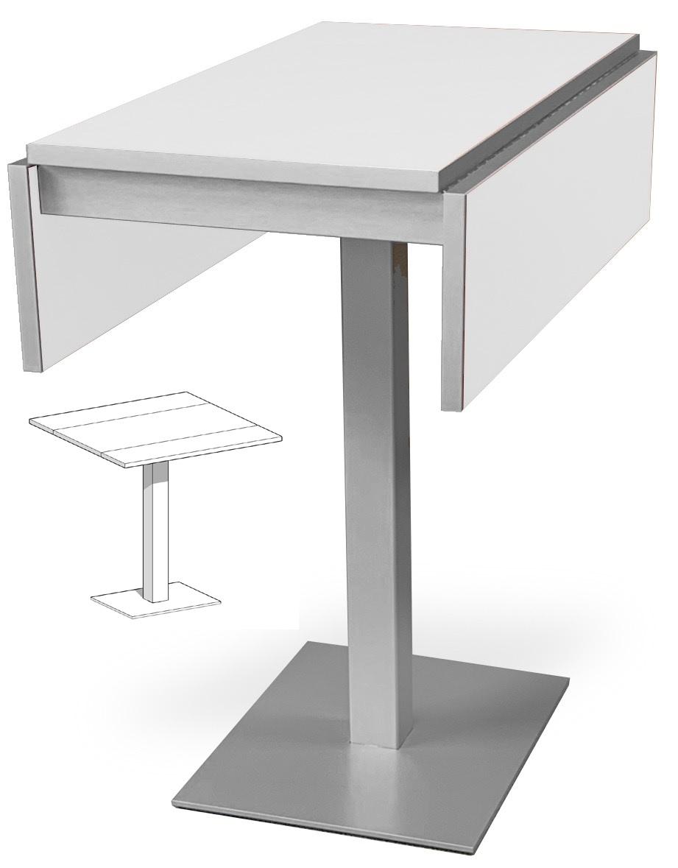 Bar Extensible: Mesa De Cocina Con Pata Central