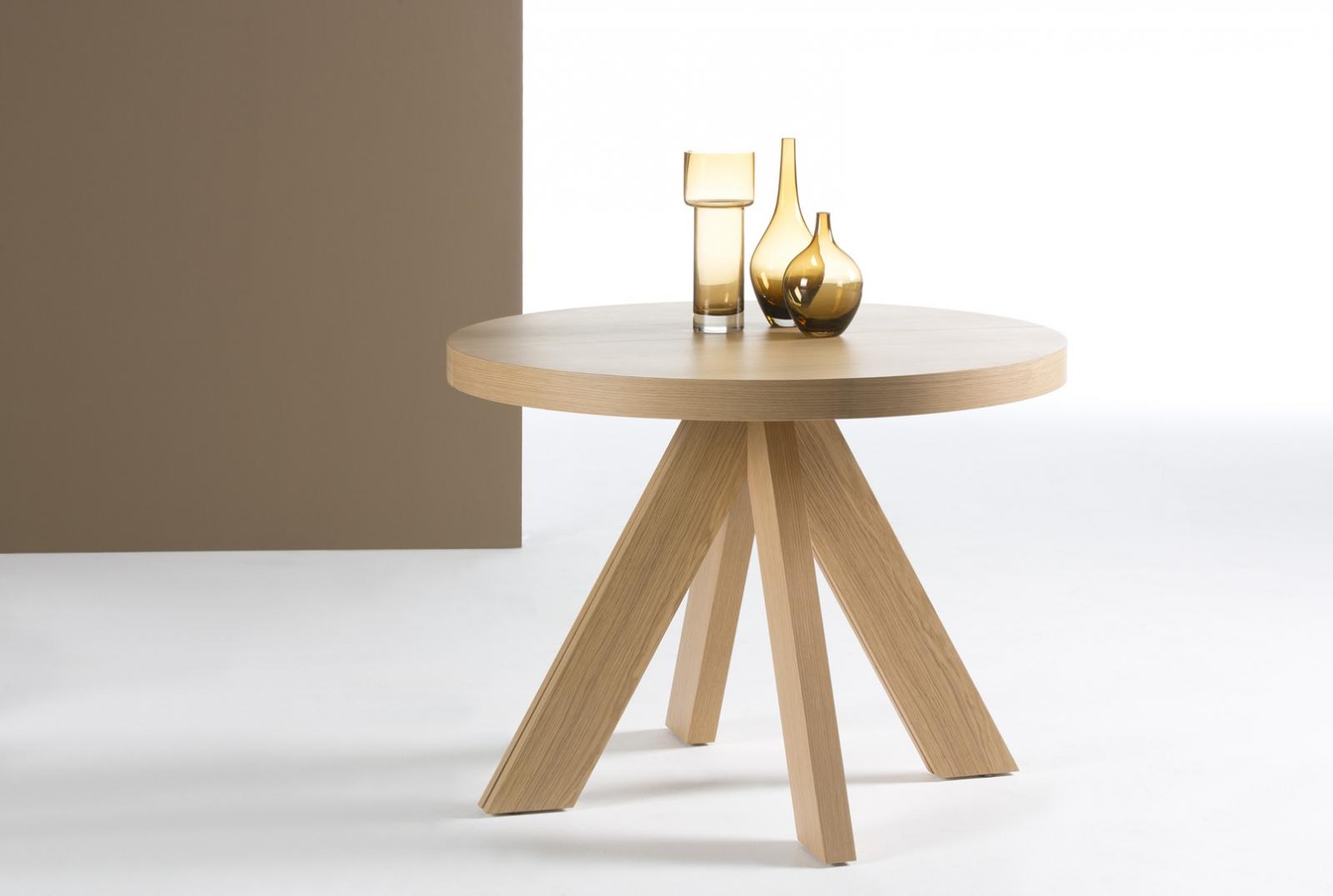mesa redonda patas curvas extensible dise o moderno