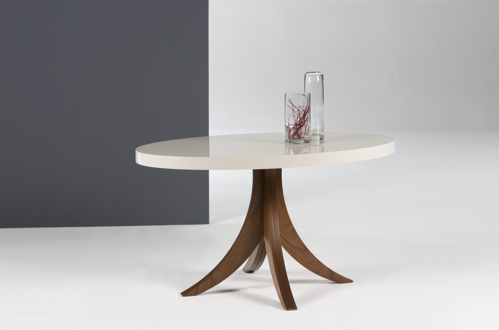Mesa redonda extensible diseño moderno