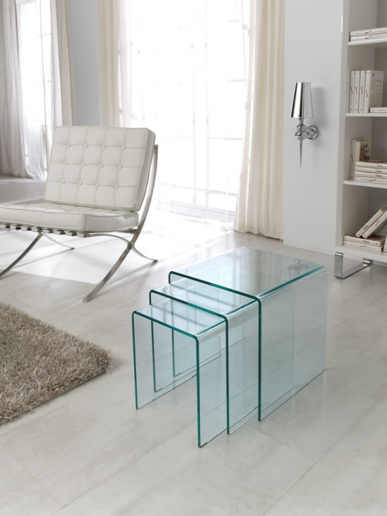 Conjunto mesa baja cristal moderna malaga asturias - Mesa baja cristal ...