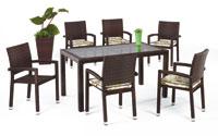 Set de sillas y mesa modelo DANDY - Set de sillones, mesa y cojines modelo DANDY