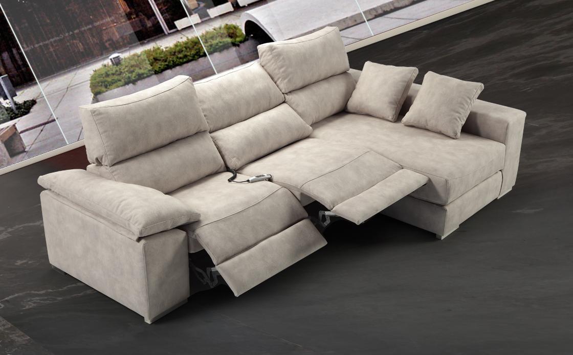 Mia home oferta en sof con chaiselong deslizantes el ctricos - Sofas tapizados en tela ...
