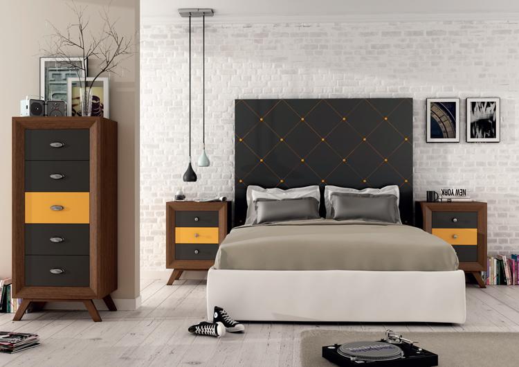 Juego de dormitorio 1 vintage mia home - Dormitorios juveniles vintage ...