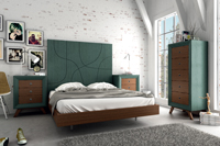 Juego de Dormitorio Vintage 3 - Juego de Dormitorio Vintage Compo 3, fabricado en madera de alta calidad, excelentes detalles.