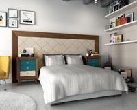 Juego de Dormitorio Vintage 4 - Juego de Dormitorio Vintage Compo 4, fabricado en madera de alta calidad, excelentes detalles.