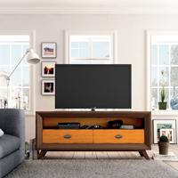 Mesa de TV Vintage TV150C - Mesa TV 2 Cajones Vintage, fabricado en madera de alta calidad, excelentes detalles.