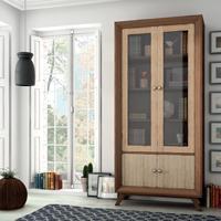 Vitrina Vintage V102 - Vitrina  2 puertas grandes, 2 cajones Vintage, fabricado en madera de alta calidad, excelentes detalles.