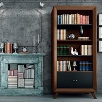 Estante librero Vintage V104 - Estante con  2 Ptas. pequeñas Vintage, fabricado en madera de alta calidad, excelentes detalles.