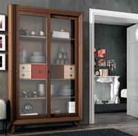 Vitrina Vintage V301 - Vitrina  2 puertas correderas Vintage, fabricado en madera de alta calidad, excelentes detalles.