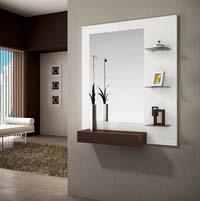 Consola, espejo y estantería/perchas 31 - Consola, espejos y estantería/perchas integrados