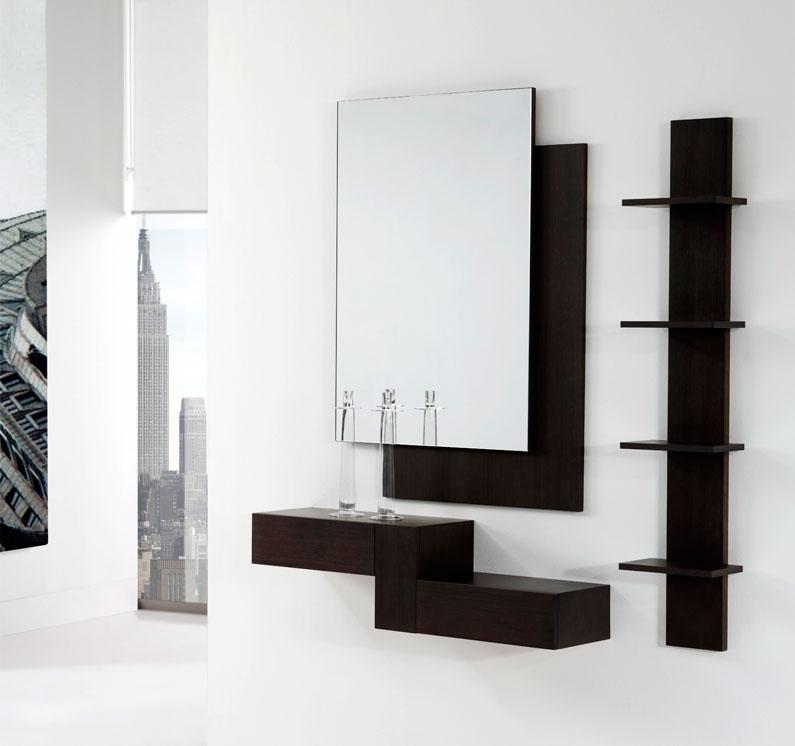Espejos redondos modernos espejo redondo con marco de for Espejos para entrada de casa