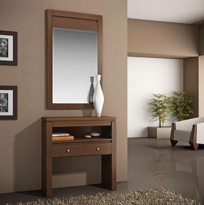 Consolas y entradas dos cajones repisa espejo valencia for Espejos en la entrada de la casa