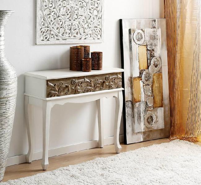 consola entrada de madera colonial y tallada - Entrada / Consola