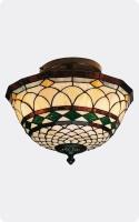 Plafon vintage colgante Tiffany  - Lámpara de techo Tiffany con diseño vintage