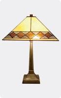 Lámpara de sobremesa Tiffany - Lámpara de sobremesa con diseño de rombos