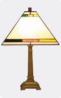 Lámpara Tiffany de sobremesa wengue 2 - Lámpara de sobremesa de madera de wengue