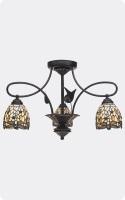 Plafon clásico colgante Tiffany  - Lámpara de techo Tiffany con diseño clásico