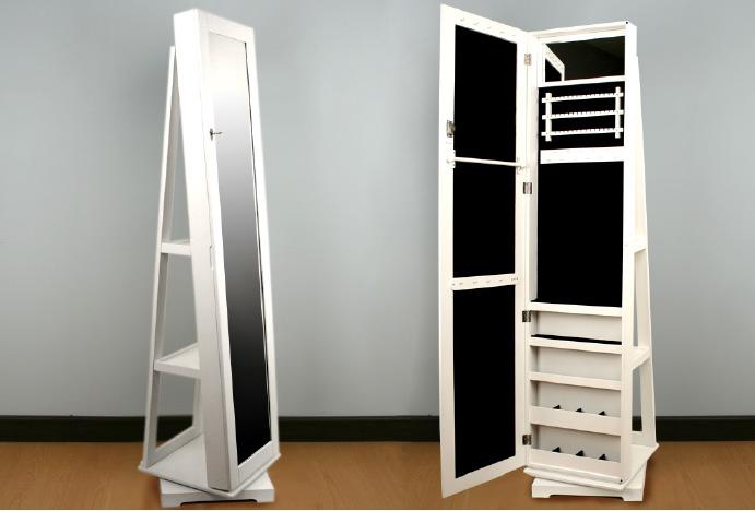 Espejo de pie gal n o joyero for Espejos modernos en madera