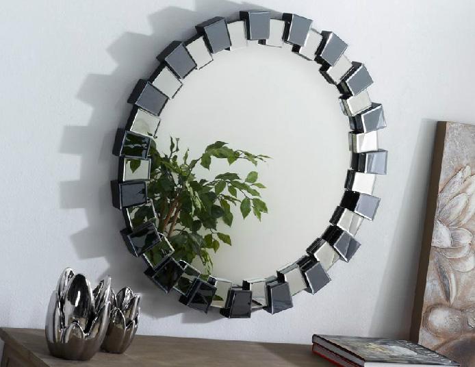 Espejo redondo marco de espejo for Espejos de madera redondos