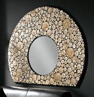 Espejo Oval Nacar - Espejo Oval Nacar