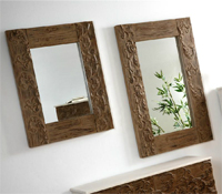 Espejo tallado madera