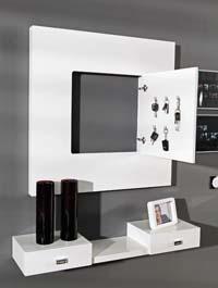 Consola y espejo de chapa Roble 27