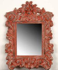 Espejo marco rojo CARPE - Espejo marco rojo CARPE