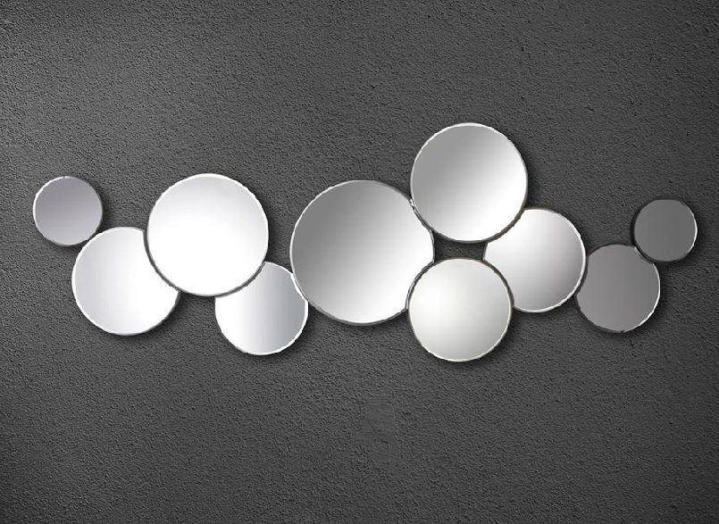 Espejos circulos alineados for Espejos circulares decorativos