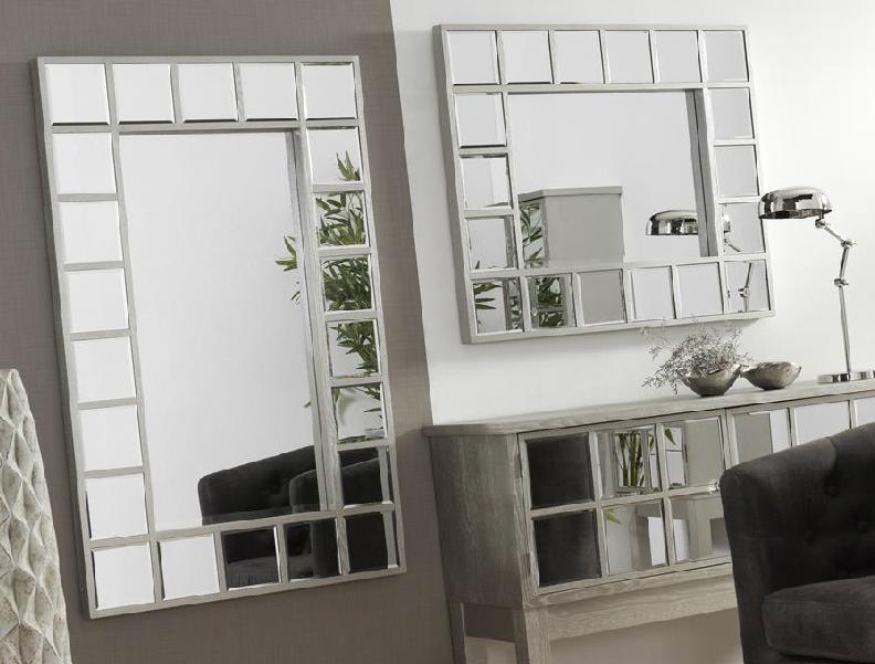 Mia home espejos madera con espejo madrid barcelona for Espejos grandes precios