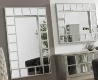 Espejos con marco de espejos pequeños - Espejos de dos tamaños  Marco de espejos cuadrados