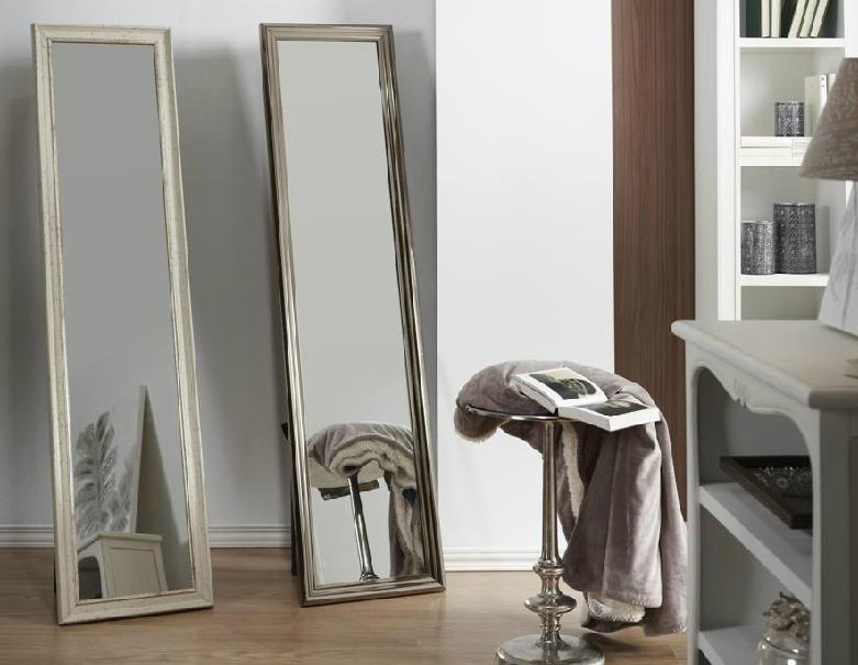 Espejo de pie plata o blanco venta online for Espejo pie blanco