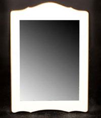 Espejo blanco y dorado CARPE - Espejo blanco y dorado CARPE