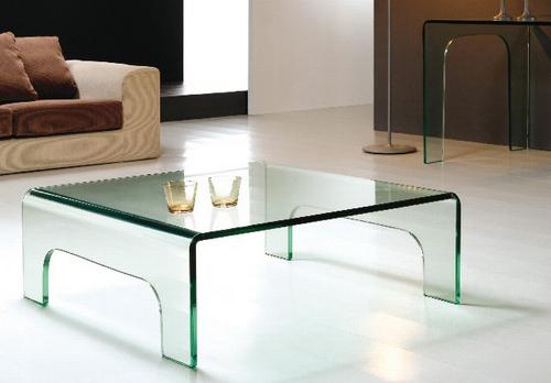 Mesa baja de cristal transparente - Mesa baja cristal ...